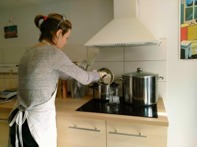 La préparation du savon