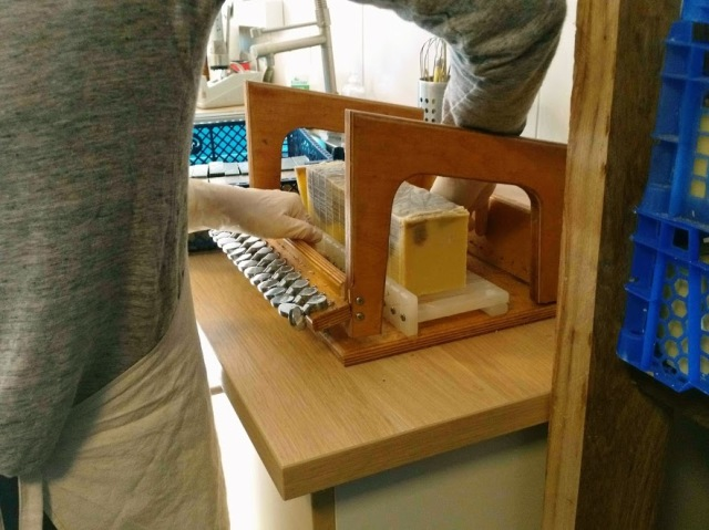 Machine pour découper le savon