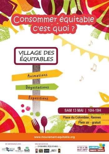 Affiche Village des Equitables 13 mai